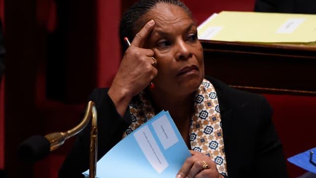 Christiane Taubira à l'Assemblée nationale, le 13 janvier 2016.