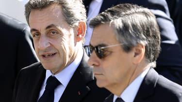 Nicolas Sarkozy et François Fillon le 15 octobre 2016 à Nice