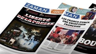 Capture d'écran du site internet du journal Zaman France, le 29 août 2016