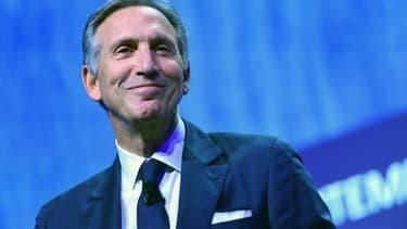 Howard Schultz, le 7 mai 2018, lors d'une conférence à Milan.