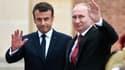 Emmanuel Macron et Vladimir Poutine le 29 mai 2017.