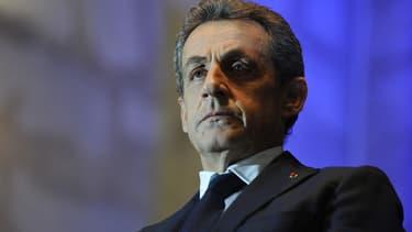 Nicolas Sarkozy le 8 décembre 2015 à Rochefort, pour un meeting en vue des élections régionales.