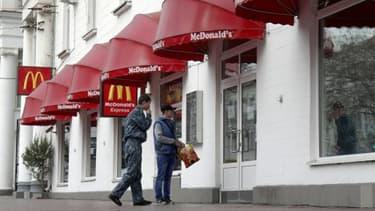 Un restaurant McDonald's à Sébastopol, en Crimée.