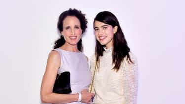 Andie McDowell et sa fille Margaret Qualley en septembre 2019