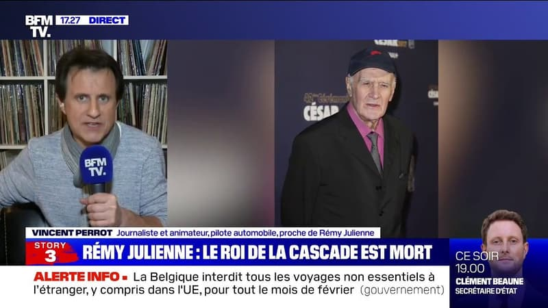 """Vincent Perrot à propos de Rémy Julienne: """"C'était pas seulement un cascadeur, c'était un homme de spectacle"""""""