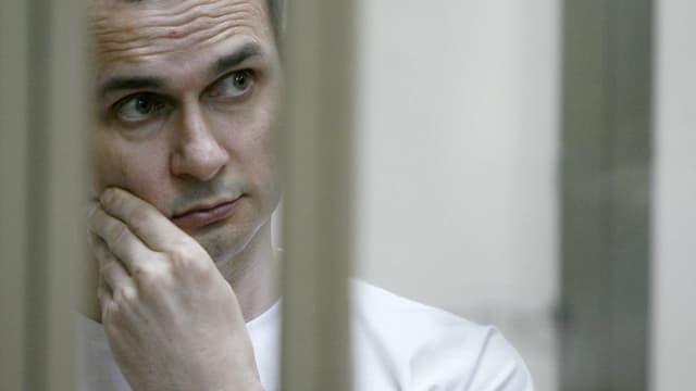 Le réalisateur Oleg Sentsov lors d'une audition, à Rostov-on-Don, le 21 juillet 2015.