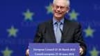 Le président du Conseil européen, Herman Van Rompuy, à Bruxelles. Les marchés ont approuvé avec prudence vendredi l'accord trouvé la veille, à l'initiative de la France et de l'Allemagne, par les dirigeants de la zone euro sur un mécanisme d'aide à la Grè