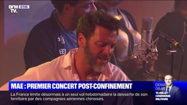 Christophe Maé, premier concert post-confinement - 13/07
