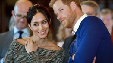 Meghan Markle et le prince Harry en janvier 2018.