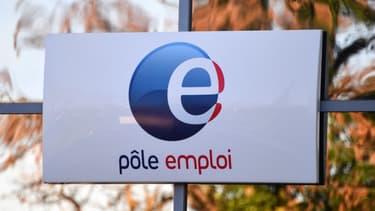 Un panneau Pôle emploi (illustration).