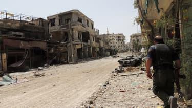 Un rebelle syrien à Damas, le 25 mai 2013.
