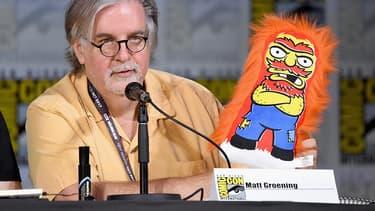 Matt Groening, le créateur des Simpsons, au comic-con de San Diego, le 22 juillet 2017.