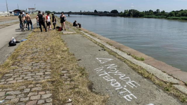 La berge de la Loire à Nantes, où avait disparu Steve Maia Caniço dans la nuit du 21 au 22 juin 2019