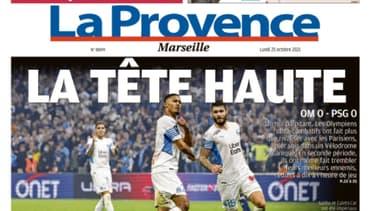 La Une de la Provence de ce lundi