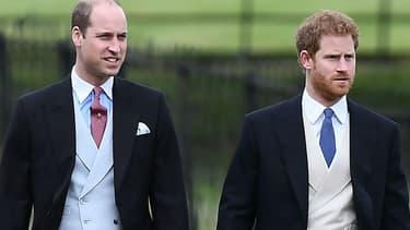 Les princes William et Harry au mariage de Pippa Middleton à Englefield en 2017