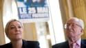 """Pour Marine Le Pen, son père a fait une """"faute politique""""."""