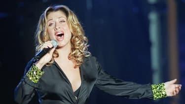 Lara Fabian lors d'un concert à Carthage, en Tunisie, le 15 août 2000.