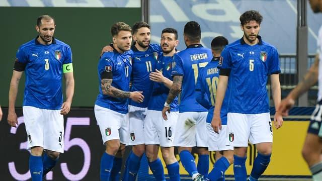 Les joueurs de l'Italie