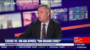"""Jean-Baptiste Lemoyne : """"30 milliards d'euros de pertes"""" pour un an de covid-19"""