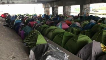 1.017 personnes ont été évacuées du camp du Millénaire mercredi à  Paris.