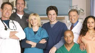 """L'équipe de la série """"Scrubs""""."""