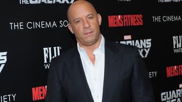 """Vin Diesel lors de la première du film """"Les Gardiens de la Galaxy"""" en juillet 2014."""