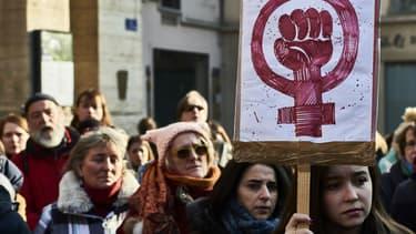 Une Marche des femmes à Lyon le 21 janvier 2017 (photo d'illustration)