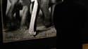 """Le cliché """"Dovima with elephants"""", représentant le mannequin posant en robe Dior entre deux éléphants, de Richard Avedon a été adjugé 841.000 euros samedi à Paris, un record mondial pour la vente d'une photographie de l'artiste américain. /Photo prise le"""