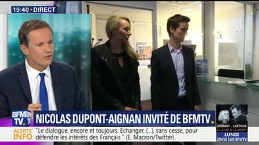 Nicolas Dupont-Aignan face à Ruth Elkrief