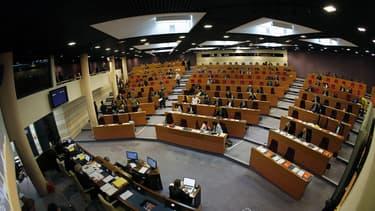 L'hémicycle du Conseil régional d'Ile-de-France