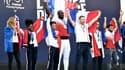 Les judokas français au Trocadéro