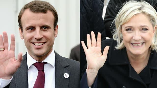 Emmanuel Macron et Marine Le Pen s'affronteront au second tour de l'élection présidentielle.