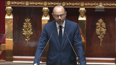 Edouard Philippe lors de son discours de politique générale.