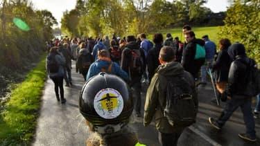 Une marche organisée dans la ZAD le 21 octobre 2017