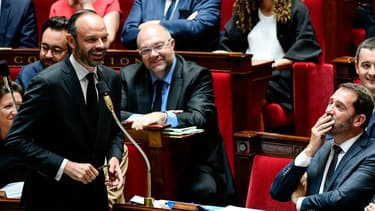 Edouard Philippe lors de la première séance des questions au gouvernement, le 5 juillet 2017 à l'Assemblée nationale