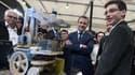 Eliott Sarrey en compagnie du ministre de l'Economie, le 4 septembre 2015, à la Foire européenne de Strasbourg.
