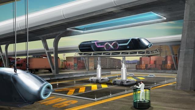 Une vue d'artiste du système de transport.