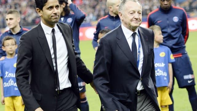 Nasser Al-Khelaïfi et Jean-Michel Aulas