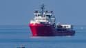 L'Ocean Viking  a secouru une partie des migrants il y a plusieurs jours. (Photo d'illustration)