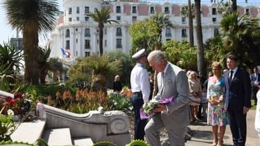 Le prince Charles en visite à Nice ce lundi.