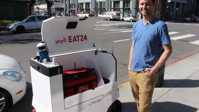 Marble lance son service de livraison de repas à domicile par robot.