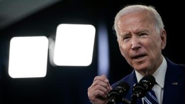 Joe Biden, lors d'une intervention sur la vaccination contre le Covid-19 aux Etats-Unis, à la Maison Blanche le 29 mars 2021