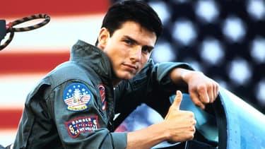 "Tom Cruise dans ""Top Gun"", en 1986."
