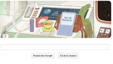 Le doodle du jour de Google est consacré à l'écrivain de science-fiction Douglas Adams.