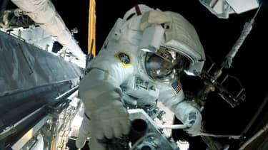 L'astronaute Thomas Pesquet depuis la station spatiale internationale.