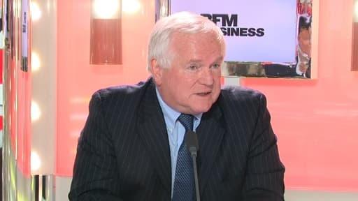Jean-Claude Volot, candidat à la présidence du Medef, était l'invité du Grand journal de BFM Business, lundi 18 février.