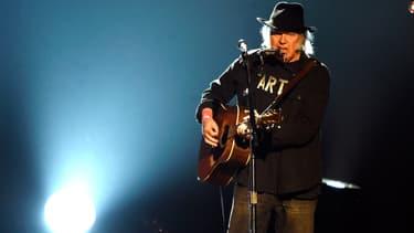 Le chanteur américain Neil Young en 2015 à Los Angeles.