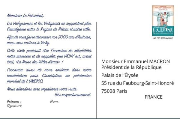 La carte poste éditée par le maire