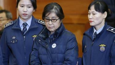 Choi Soon-Sil, le 16 janvier 2017 à la cour constitutionnelle de Séoul, en Corée du Sud.