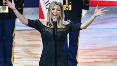 Fergie lors du 67e NBA All-Star Game à Los Angeles le 18 février 2018